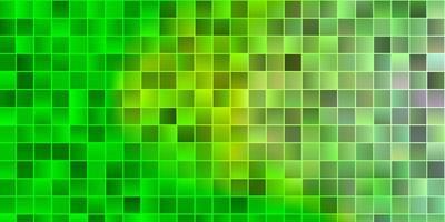 telón de fondo de vector verde claro con rectángulos.