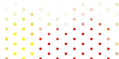 patrón de vector rojo claro, amarillo con esferas