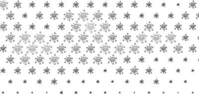 Plantilla de vector gris claro con signos de gripe