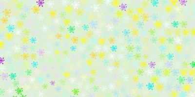 Fondo de vector multicolor claro con símbolos covid-19
