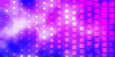 Light Pink, Blue vector background with rectangles.