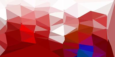 Dark blue, red vector triangle mosaic background.