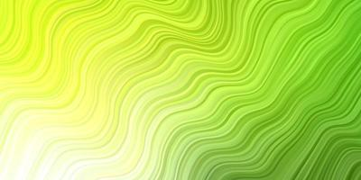 Light Green, Yellow vector pattern with wry lines.