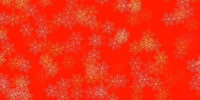 Light orange vector doodle pattern with flowers.