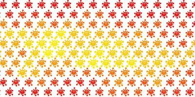 Light Orange vector background with covid-19 symbols