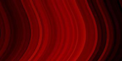 Dark Red vector background with bent lines.