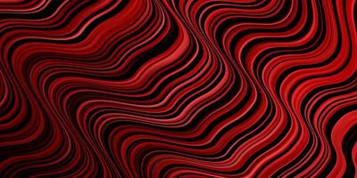 Dark Red vector backdrop with bent lines.