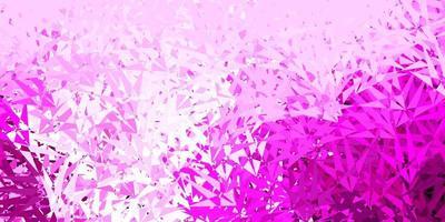 diseño de vector rosa claro con formas triangulares.