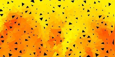 Fondo de pantalla de polígono degradado de vector amarillo oscuro.