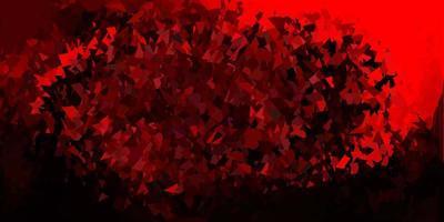 diseño de polígono degradado vectorial rojo oscuro.
