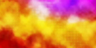 Light Multicolor vector backdrop with circles.