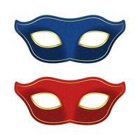 Carnival mask vector design illustration isolated on white background
