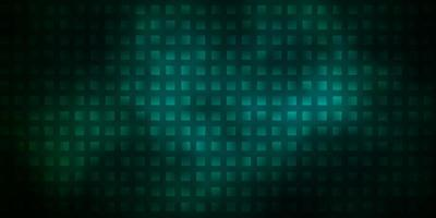 Telón de fondo de vector verde oscuro con rectángulos.