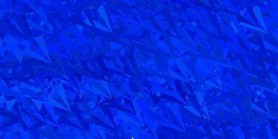 Dark blue vector texture with random triangles.