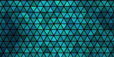 Telón de fondo de vector verde claro con líneas, triángulos.