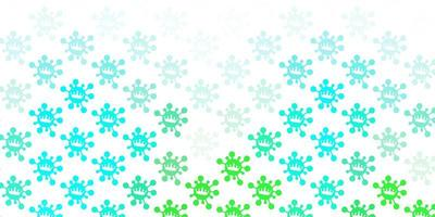 Light green vector texture with disease symbols.