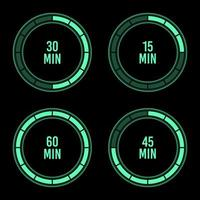 Hour timer vector design illustration isolated on background