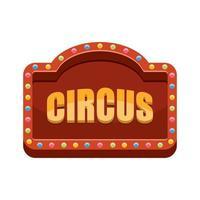 Ilustración de diseño de vector de signo de circo aislado sobre fondo blanco