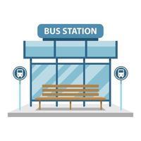 Bus station vector design illustration isolated on white background