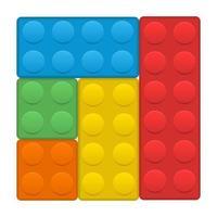 Building blocks vector design illustration isolated on white background