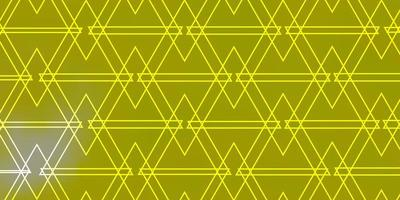 Light Yellow vector background with triangles.