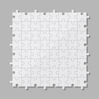 Ilustración de diseño de vector de piezas de rompecabezas aislado sobre fondo gris