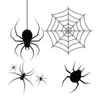 Ilustración de diseño de vector de araña aislado sobre fondo blanco