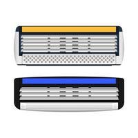 Ilustración de diseño de vector de cuchilla de afeitar aislado sobre fondo blanco