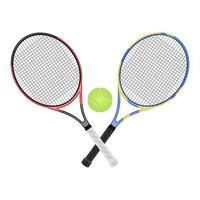 Tennis racket vector design illustration isolated on white background