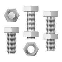 Hex bolt vector design illustration isolated on white background