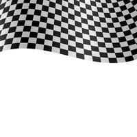 Racing flag vector design illustration isolated on  white background
