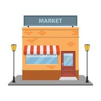 Storefront vector design illustration isolated on white background