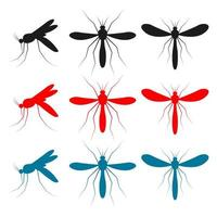 Mosquito insect vector design illustration isolated on white background
