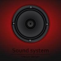 Ilustración de diseño de vector de altavoces de audio