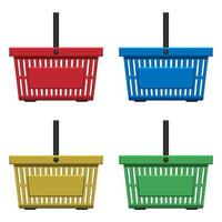 Supermarket basket vector design illustration isolated on white background