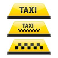 Taxi sign vector design illustration isolated on white background