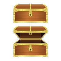 Treasure chest vector design illustration isolated on white background