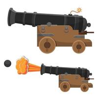 Ancient cannon vector design illustration isolated on white background