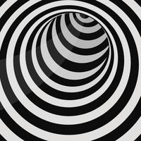 Ilustración de diseño de vector de túnel de círculo futurista