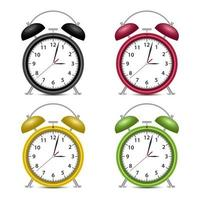 Alarm clock vector design illustration isolated on white background
