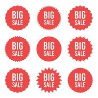Big sale sticker vector design illustration isolated on white background