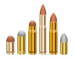Gun bullet vector design illustration isolated on white background