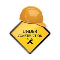 Under construction zone vector design illustration isolated on white background