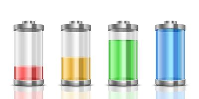 Ilustración de diseño de vector de batería digital aislada en segundo plano