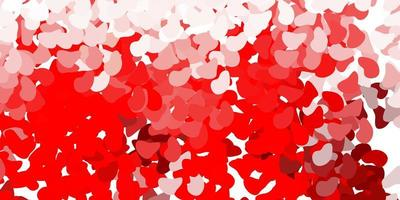 Light red vector background with random forms.