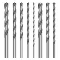 Metallic drill set vector design illustration isolated on white background