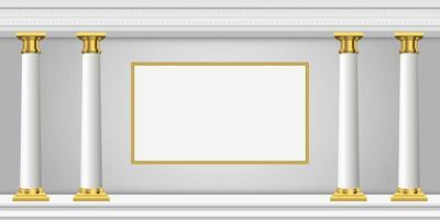 Antique columns vector design illustration isolated on background