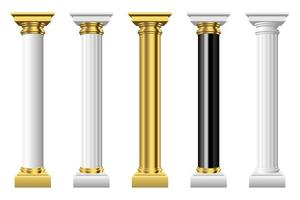Antique columns vector design illustration isolated on white background