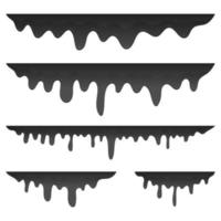 Dripping oil set vector design illustration isolated on white background
