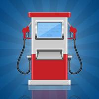 Gas pump vector design illustration isolated on background